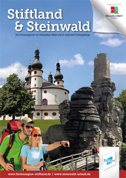 Titel des Prospektes der Ferienregionen Stiftland und Steinwald