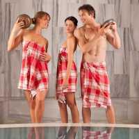 BadeTempelzeremonie unter der Dampfkuppel im orientalischen BadeTempel Sibyllenbad