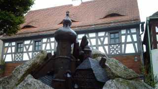 Sagenbrunnen und Gäste-Information Neualbenreuth-Sibyllenbad