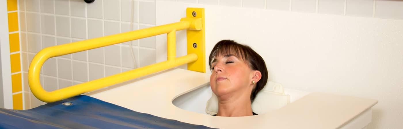 Schmerzlinderung durch Radontherapie