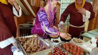 BadeTempel-Geburtstag orientalische Häppchen