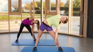 Gymnastik im neuen Präventionsraum